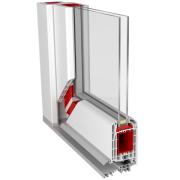 ALUPLAST 70 mm beépítésű mélységű bejárati ajtó profilrendszer