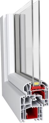 Aluplast IDEAL 5000 Soft-Line műanyag ablak profil rendszer 2 rétegű üveggel
