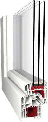 Aluplast IDEAL 5000 Soft-Line műanyag ablak profil rendszer 3 rétegű üveggel