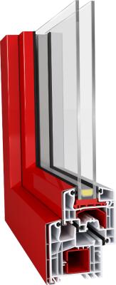 Aluplast IDEAL 5000 Aluclips műanyag ablak profil rendszer színezhető alumínium pattintós burkolattal