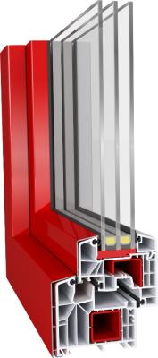 Aluplast IDEAL 8000 Aluclips műanyag ablak profil rendszer alumínium rápattintós színezhető burkolattal