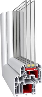 Aluplast IDEAL 8000 Round-line műanyag ablak profil rendszer