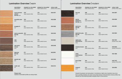 Aluplast műanyag ablak profil rendszer színválasztéka 1
