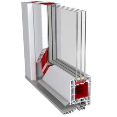 Aluplast 85mm beépítésű mélységű bejárati ajtó profilrendszer